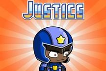 Justice - Honest & Picky / When he isn't on missions with the Yogotars, Justice spends his time patrolling his beloved hometown of Yogopolis—often by skateboard.