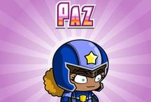 Paz - Independent & Efficient / Paz is always looking for new chess partners, listening for new songs she can learn to play on her guitar and studying up on the science of how her Yogobrain works!