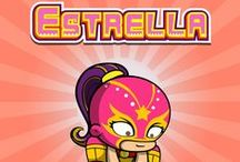 Estrella - Generous & Optimistic / Estrella loves physical activity, especially wrestling, and her opponents often leave seeing stars! She is generous and always encourages her fellow Yogotars to help one another.