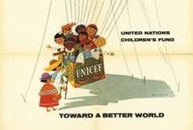 UNICEF Posters & Stamps / Vintage UNICEF posters and stamps, dating back to 1946.
