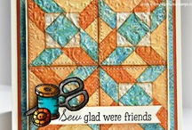 Cards_Quilt.1 / Cards with a quilt look/effect