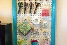 Craft Room Organization / Craft and scrapbooking organizing tips and tricks. Product features. Close To My Heart (CTMH).
