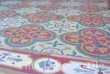 Antique Cement Tile Floors