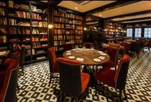 Hospitality Design / Encaustic Cement Tile used in Hospitality Design, Commercial Installations. Restaurants, Hotels, Night Clubs, Bars, Professional Offices, etc.