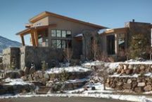 The Golden Contemporary Project / The Golden Contemporary project is a beautiful contemporary home, built in an exclusive neighborhood in the foothills near Golden Colorado. The home features modern-style flush doors by Sun Mountain, in a contrasting mix of dark walnut and light maple woods.