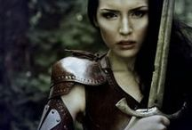 Character: The Warrior / She is the fighter and protector. Her heart is pure gold. She is just and fair. She is prone to wandering in search of new and mysterious places. She courageously follows the longings in her heart. Sometimes she's gone for long, but she always returns to The Healer and The Magician.