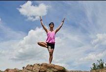 happy yoga girl. / #yoga