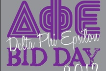 Delta Phi Epsilon / These designs were specifically made for or requested by the sisters of Delta Phi Epsilon. All of our designs can be customized to fit your organization or chapter needs! / by Greek Streak