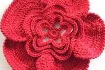 crochet/knit flowers