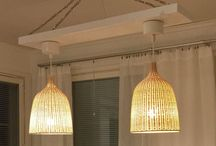 Making Chandelier / Ceiling chandelier from couple of Ikea Lerans. Lights, pendant, lamps