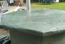 Making Hot Tub Deck / Making hot tub deck. Cover, baths, barrels, spa.