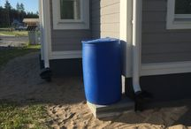 Greenhouse Watering / Watering greenhouse with rain barrel