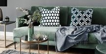 Trend: Samt / Möbeltrend: Samt Sofa. Couch. Stühle. Sessel. Kissen. Hocker. Dekoration.