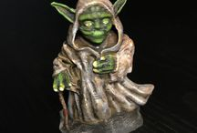 Walking Yoda / Miniature 3D printing and painting. Used Prusa 3D printer and Citadel paints from Gameworkshop.