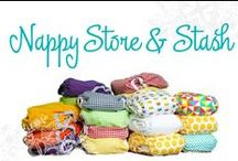 Nappy Store and Stash / Cloth nappy stashes and storage ideas