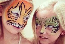 Face painting / Face painting that inspires me and some that I did on my own girls, Ronja and Frida.