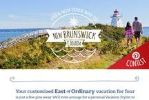Send Me East of Ordinary | New Brunswick, Canada / [Contest is now closed] Pin your dream getaway to New Brunswick, Canada and you could win a customized East of Ordinary vacation for 4! Check out our Bay of Fundy idea board below for a little vacation pinspiration, then explore all our boards to pin a getaway that's uniquely you – from beaches and parks to culture and cuisine.