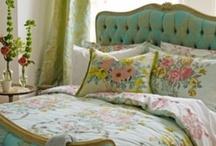 Sweet Dreams / Pretty, Upholstered Headboards / by Tommie Zuñiga