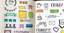 Bullet Journal / Bullet Journal, Bullet Journalling, Bullet Journals, Weekly Spreads, Collections, Bujo, Bujo collections, Bujo layouts, Bullet Journal Layouts, Tracker, Trackers, Monthly, Monthlies, Lettering