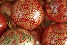 Christmas Fire range - a great collection of reds & golds (2017 range) / Beautiful Hand Made Indian Christmas Decorations.