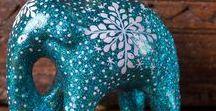 Bollywood Glitz / Beautiful Hand Made Indian Christmas Decorations. Colourful stuff!!