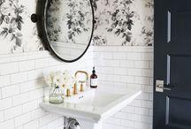   Bathroom Inspiration   / Inspiration for bathroom decor, chic bathroom, modern bathroom, rustic bathroom, country bathroom, modern rustic chic bathroom, industrial chic, white bathroom, Magnolia, shiplap bathroom