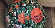 Indian Floral decorations - 2017 range / Beautiful handpainted Kashmiri decorations