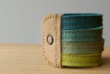 Sew, A-wristed. / wrist-wear made from fabric, yarn etc. / by WK Wesley