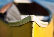 yellow canoe. / Yellow canoes! Why yellow? Joy, happiness, wisdom and energy. We're all in the same boat.