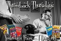 Throwback Thursdays / Throwback Pricing on Select Brand Name Products for 1 DAY ONLY!