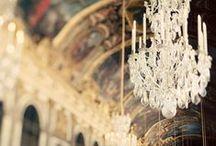 Lámparas de Araña / chandeliers are like earrings in woman's ears / by Elma Tagle