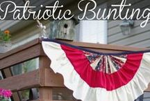 Red, White & Blue / Patriotic Holiday Decorations, crafts, and DIYs