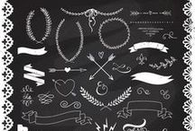 Printables & Chalkboard Art / Chalkboard art inspiration & Art printables