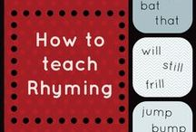 Rhyming and Syllables / Two basic skills introduced at the beginning of kindergarten. Find activities to help practice these two important building blocks for ELA.