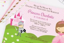 Princess and Knight party ideas / Ideas to plan the perfect party for your little princess and maybe also your prince.