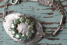 Fab: re-silvering / Old silverware comes out of the drawer! (repurpose old silverware, old cutlery, old flatware, upcycle silverware, craft with silverware) / by ReFab Diaries   Candice C.