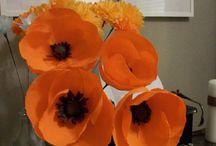 Crape paper flowers / by Lori Jones