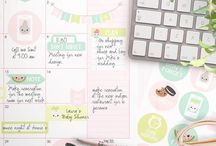 Planner decoration ideas / Cute ideas and stickers to male your planner more beautiful.