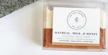 COCONUT MILK . S O A P / Handmade soaps made with organic coconut milk