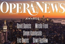 8th Annual Opera News Awards - 2013 / On April 21, 2013, OPERA NEWS hosts the eighth annual OPERA NEWS Awards Ceremony, paying tribute to distinguished honorees David Daniels, Mirella Freni, Simon Keenlyside, Eric Owens and Dawn Upshaw! Learn more about each of the artists and this exciting event here, at www.facebook.com/operanews, and on Twitter @OperaNews and @MetOperaGuild. / by Met Opera Guild (MOG)
