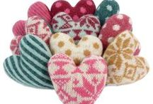 crocheted hearts / handmade directly from the heart