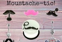 Moustache-tastic Piercing Jewellery for Movember
