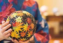 Temari - nippon handmade balls / Artefatti tradizionali giapponesi realizzati con filo