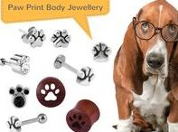 Paw Print Body Jewellery / Whether you're a cat or dog lover, we think you'll love this super cute paw print jewellery!