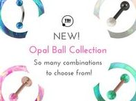NEW! Opal Ball Body Jewellery / Our new synthetic opal ball collection is just fabulous!  The pictures really can't do them justice, but we've tried our best!  Available in sooooo many combinations I can't show you them all! Check them out online now.