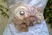 fabric flowers / by Cheryl Lindsay