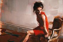Lady in Red / Works of art featuring women wearing red.   / by Melody Dodd