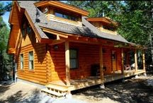 Test Drive The Moon Beam / Located in fabulous West Yellowstone, Montana, this Comfy Cabin from Natural Element Homes may be the perfect place for your vacation. The cabin is from our Comfy Cabins plan collection.  / by Natural Element Homes