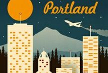 Oregon Travel Posters / My home state as represented in tourist ads. / by Melody Dodd