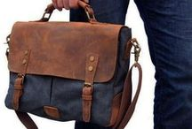 Canvas School Bags / Waxed Canvas and Leather Bags as School Bag, College Bag, Everyday Bag